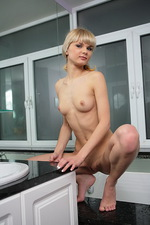 Sexy natural blond teen in the bath 05