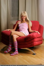 Katya from Russia on the armchair 00