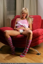 Katya from Russia on the armchair 01