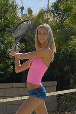 Chanel plays naked tennis 02