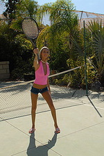 Chanel plays naked tennis 03