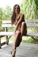 Dominika on the bench 14