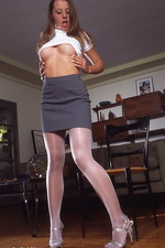 Lovely stockings on Anine 00