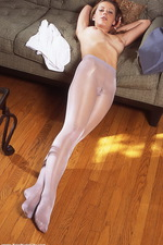 Lovely stockings on Anine 09