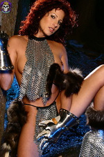 Armed paladin Iveta in hot chainmail 05