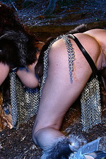 Armed paladin Iveta in hot chainmail 10