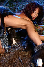 Armed paladin Iveta in hot chainmail 12