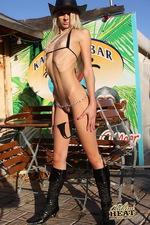 Thin bikini on a skinny babe 03