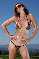 Exotic Leopard G-string Bikini 02