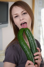Beata with a cucumber or two 01