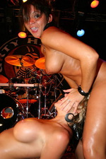 Slutty girls naked in the night club 09