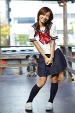 Mayuko - Japanese School uniform 00