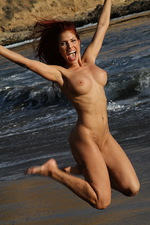 Erika Jordan Nude Beach Fun in the Sun 14