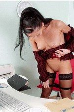 Sexy secretary in stockings 08