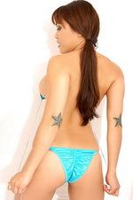 Maya Simone - Blue bikini 02