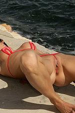Red tiny bikini 05