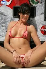 Red tiny bikini 08