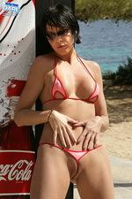 Red tiny bikini 09
