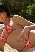 Red tiny bikini 12
