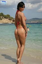 Red tiny bikini 13