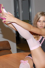 Got Pink Stockings  06