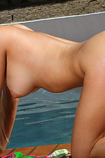 Spencer Scott strips scrunch butt bikini 13