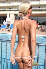 Very hot vhite bikini 14