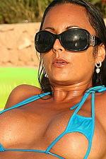 Blue sexy bikini 04
