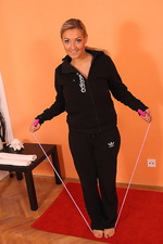 Kristal using a skipping rope 00