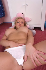 Malina busty teen in her room with toy 02