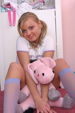 Malina busty teen in her room with toy 07