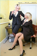 Sexy secretaries in stockings 00