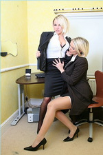 Sexy secretaries in stockings 02