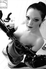 Pervy Gasmask Play with Diabolica 05