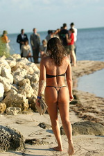 See trough black bikini 13