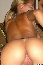 Gf displays her huge round breasts 08