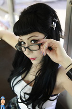 Hot Gothic Schoolgirl in glasses  06