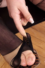 Sexy secretary with a taboo pantyhose