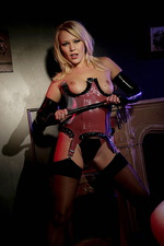 Domina poses in stockings  01