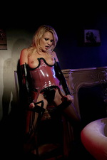 Domina poses in stockings  02