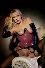 Domina poses in stockings  05