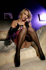 Domina poses in stockings  08