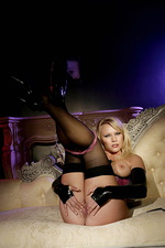 Domina poses in stockings  13