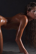 Sofia's tight, sun-bronzed skin 09