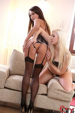 Lesbians Gape Each Other Wide  01