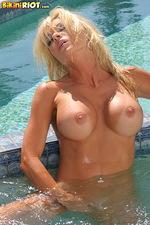 Tiny Aqua Teardrop Bikini 12
