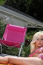 Pink Peekaboo String Bikini 05