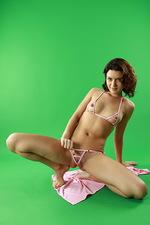Chole pink bikini 07
