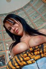 Adrianne Black in tiger stripes 10