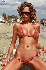 Pammy In Sexy Zipp Bikini 11